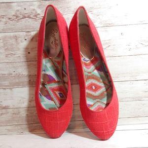 Seychelles red round toe ballet flats